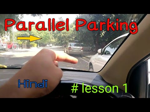 How to do parallel Parking - #lesson 1 (Hindi)