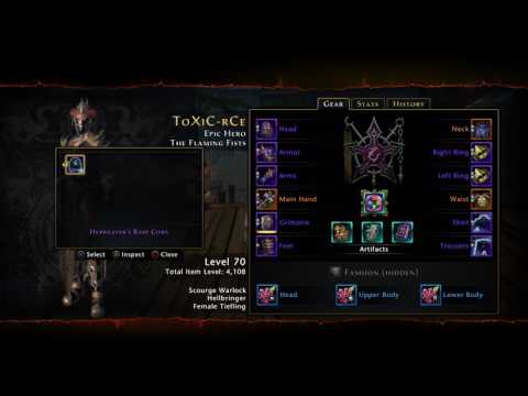 Neverwinter PS4 My Hellbringer Scourge Warlock PVE/PVP Hybrid Build (No Commentary)