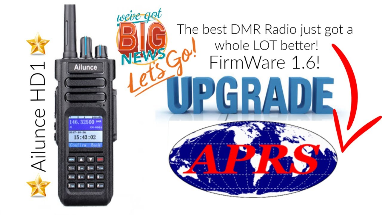 Huge news! Ailunce HD1 GPS Firmware update! 1 6 now has APRS! Here's how to  update it!