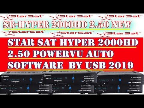 Star Sat hyper 2000 HD 2 50 2019 latest power vu software - Смотреть