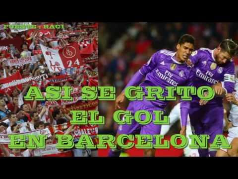 LOCURA Total por el gol del Sevilla en radio de Barcelona ¡Cantaron el himno del Sevilla