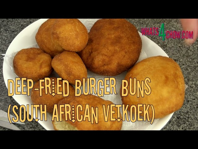 Deep-Fried Burger Buns - South African Vetkoek, Crispy on the Outside, Soft on the Inside!!!