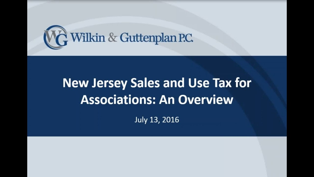 New jersey sales and use tax for associations an overview youtube new jersey sales and use tax for associations an overview xflitez Image collections
