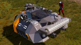 New  Mproved Hover Vessel  Empyrion Galactic Survival  Space Survival Alpha 10 Gameplay  E04