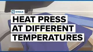 How to Heat Press Materials at Different Temperatures