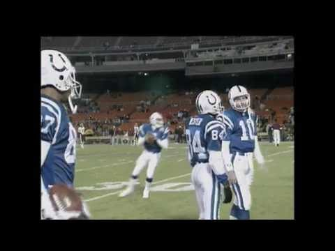 Indianapolis Colts and Washington Redskins Warm Up 11/7/1993