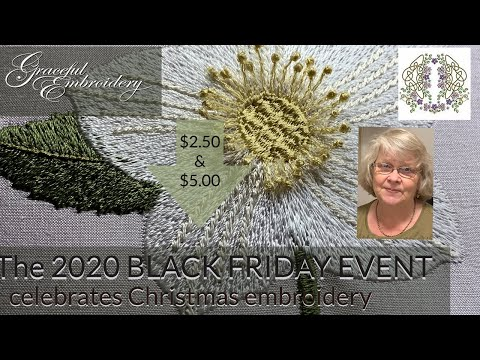 The 2020 Black Friday Event - celebrates Christmas embroidery