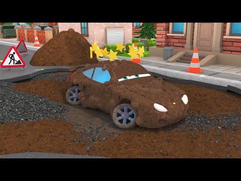 Машинки едут к победе в соревнованиях - первая гонка | Моторвиль - 3D Мультики про Машинки для детей