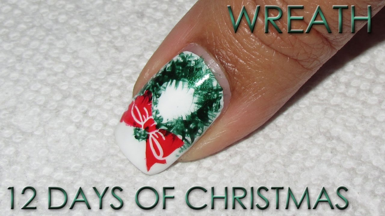 Wreath 12 days of christmas nail art diy tutorial youtube wreath 12 days of christmas nail art diy tutorial prinsesfo Image collections