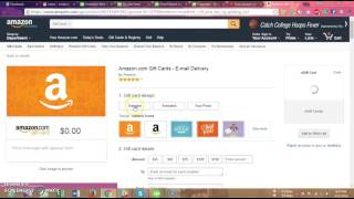 How to buy amazon gift card