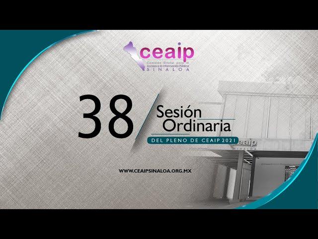 Sesión Ordinaria de Pleno no. 38/2021