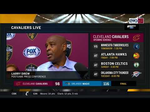 Larry Drew updates us on Tyronn Lue & explains where things went awry l CAVALIERS-MAGIC POSTGAME