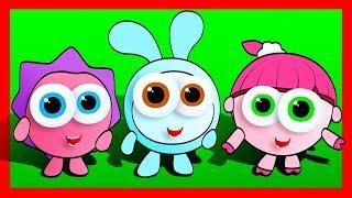 Мультик - РАСКРАСКА. Рисуем МАЛЫШАРИКИ и Учим Цвета - Развивающее видео для детей