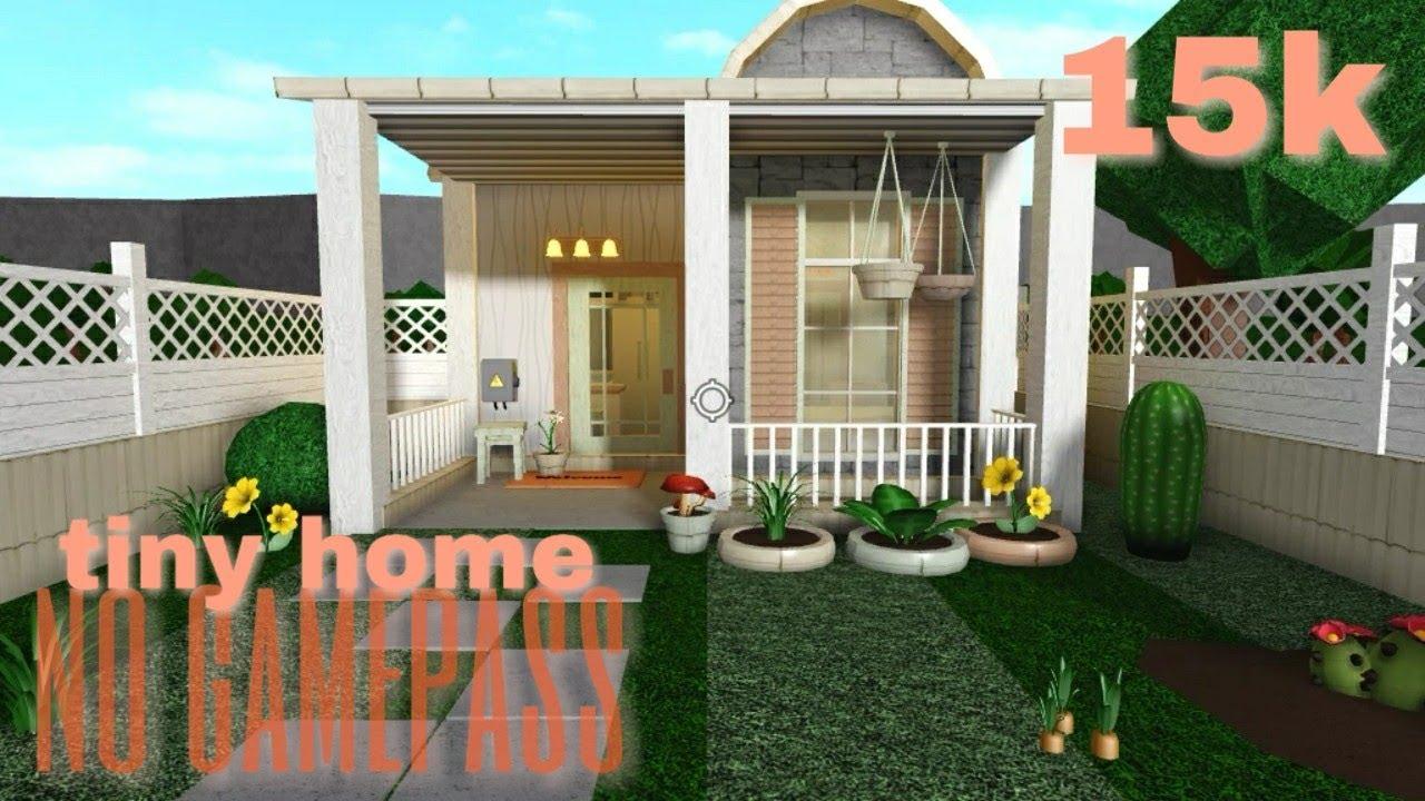 Bloxburg Tiny Home 15k No Gamepass Youtube