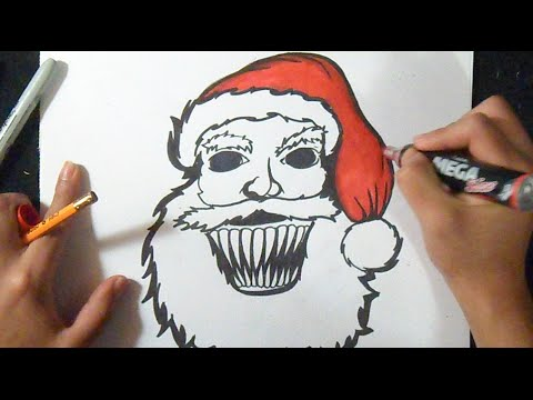 Comment dessiner le p re no l graffiti youtube - Dessiner noel ...