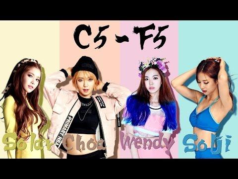 Solar (MAMAMOO) VS Choa (AOA) VS Wendy (Red Velvet) VS Solji (EXID) - Vocal Battle (C5 - F5 )