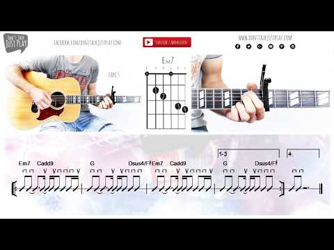 KYGO, MIGUEL - REMIND ME TO FORGET - How to play on Guitar-Tutorial+Chords+Tabs+GuitarPro