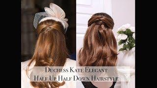 Duchess Kate Elegant Half Up Half Down HairStyle