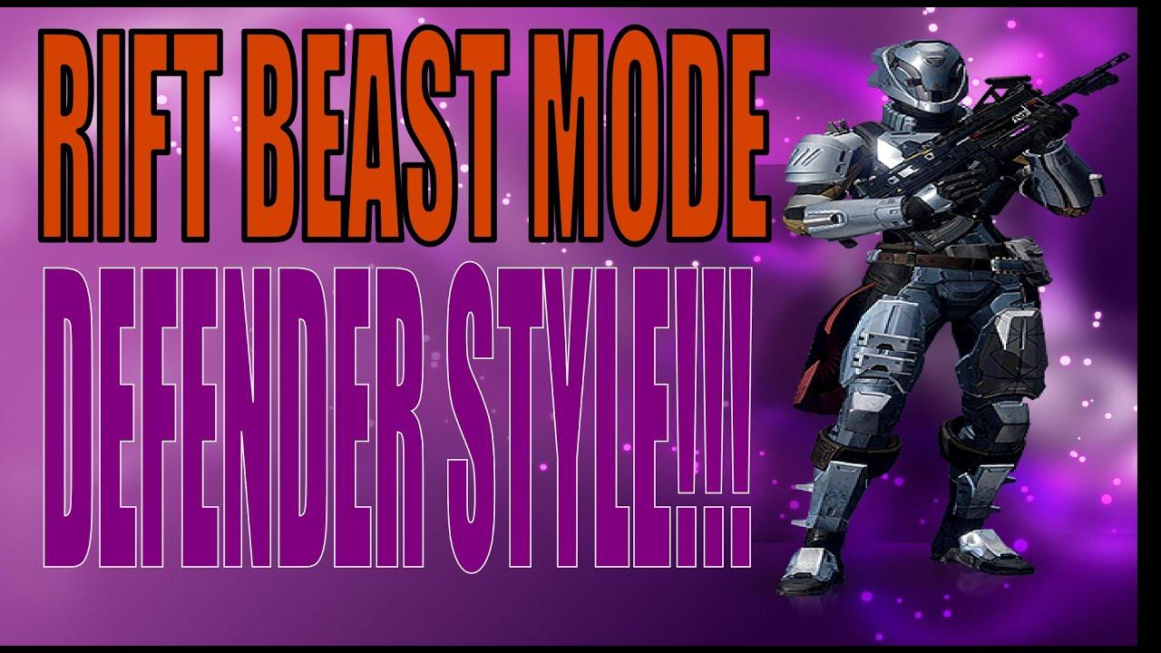 Rift beast mode defender style destiny pvp gameplay ps4 youtube