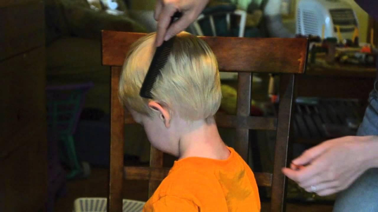 How I Cut My Toddlers Hair YouTube - How to cut boys hair