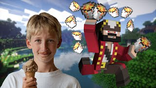 LAVA GRIEFING A SQUEAKERS WORLD! (minecraft trolling)