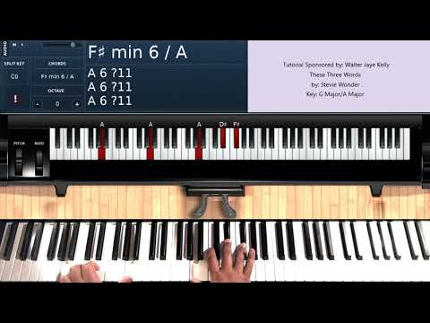 These Three Words (by Stevie Wonder) - Piano Tutorial
