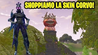 SHOPPIAMO LA SKIN CORVO! PARTITE EM CO-OP FORTNITE LIVE ITA!