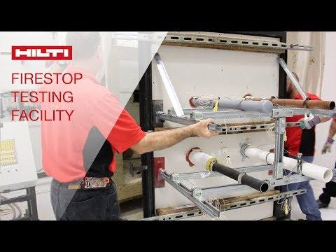 TOUR the Hilti Western Hemisphere Firestop Testing Facility