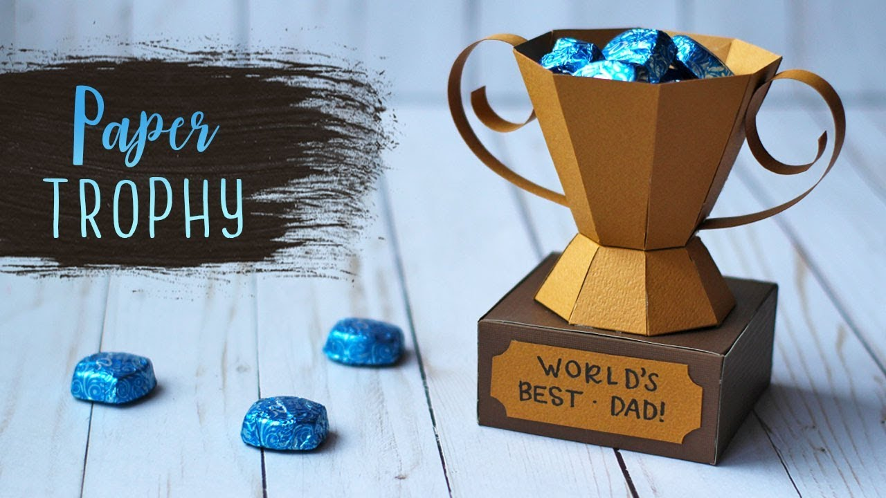 How To Make A 3D Paper Trophy For Fathers Day Crafts
