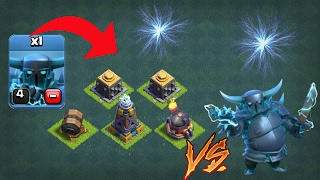 1vs1 Super Pekka Vs MEGA TESLA Vs ROASTER Vs GIANTS CANNON Vs CRUSHER COC PRIVATE SERVER
