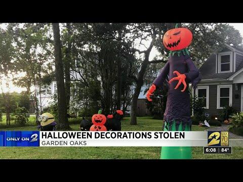 Halloween decorations stolen