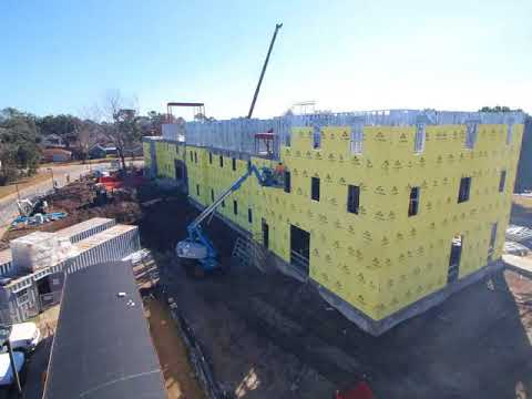 Watch time-lapse construction of the $14 million dorm at Holy Cross