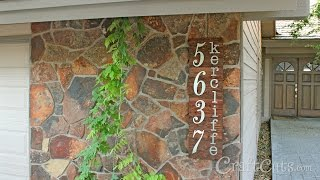 Rustic Custom Address Number Sign