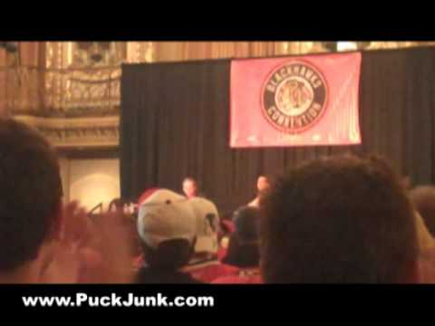 "Pat Foley re-enacts famous ""Bannerman!"" call - 2009 Chicago Blackhawks Convention"