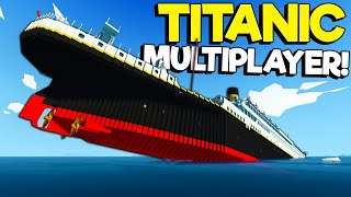 SPYCAKES & I FINALLY DID TITANIC SINKING SURVIVAL IN MULTIPLAYER! (Stormworks Gameplay)