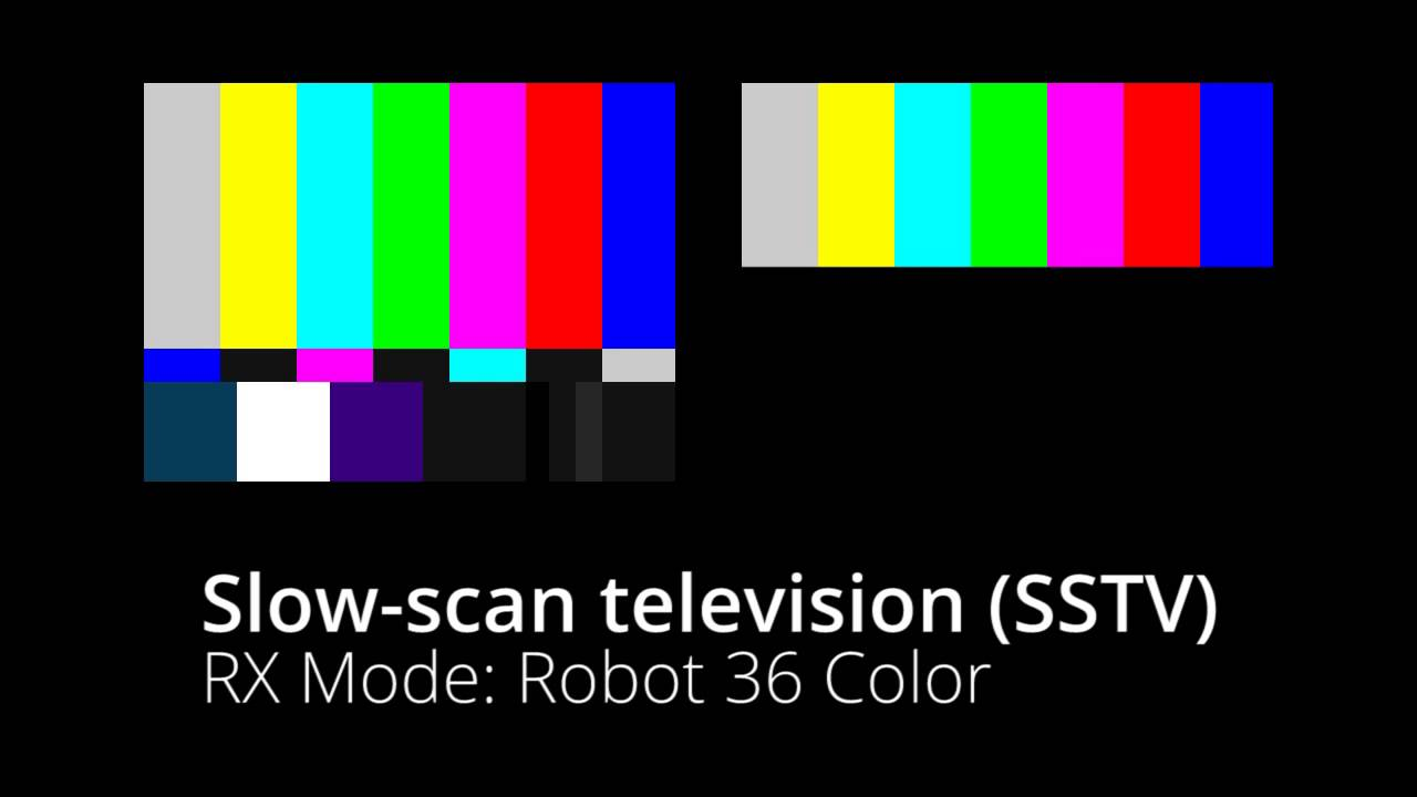 Slow-scan television (SSTV) - Robot 36 Color