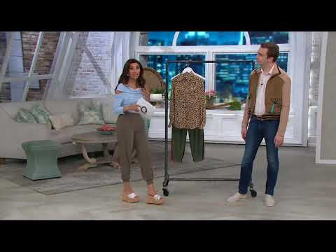 Lisa Rinna Collection Half Placket Lois Blouse on QVC