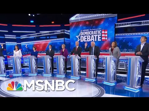 Democratic Rivals United Against Trump At Democratic Debate - Day That Was | MSNBC