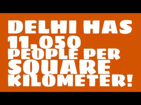 How does the population of Delhi rank?