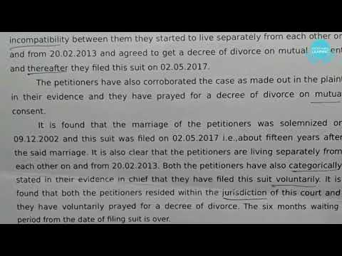 Original full Legal Judgement | Dictation | A Decree of Divorce
