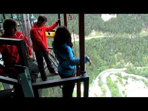 Jumping off the Europa Bridge, Austria