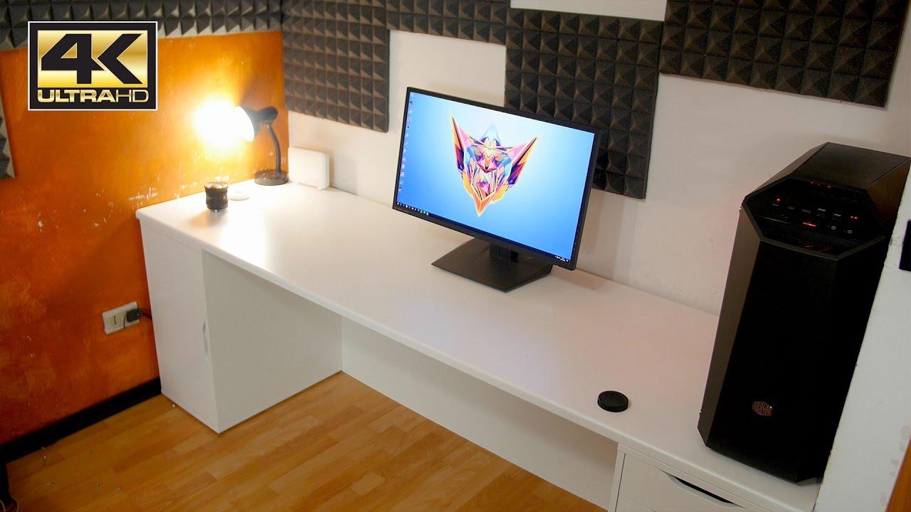 La scrivania pronta ora si passa ai monitor parte 2 for Scrivania angolo ikea