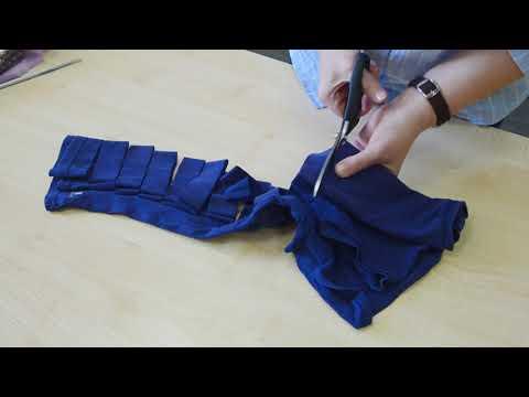 Как нарезать трикотажную пряжу