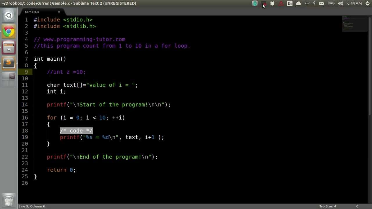 compiling C program with clang