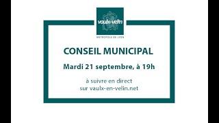 Conseil municipal<br/>21 septembre 2021