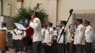 #1 RETRETA PORTEÑA con BANDA METROPOLITANA / bajos Museo Julio Jaramillo al 2013.07.07.