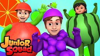 фрукты песня | стихи для малышей | потешки | Junior Squad Russia | мультфильмы