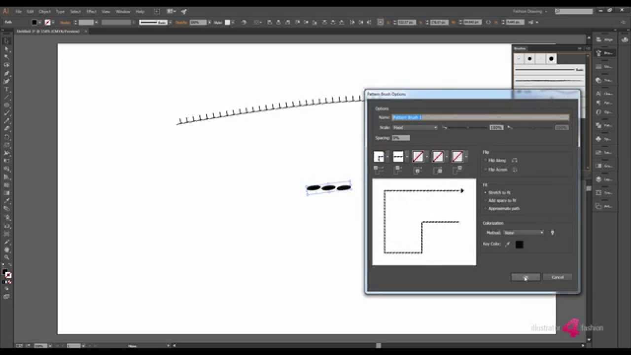 Drawing Lines In Photo Cc : Creating stitch brushes in adobe illustrator cc tutorial