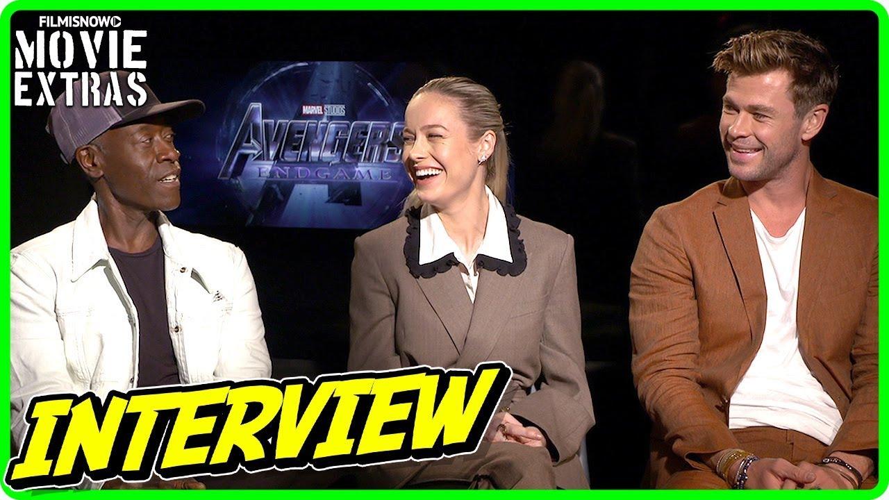 AVENGERS: ENDGAME | Brie Larson, Chris Hemsworth & Don Cheadle talk about the movie