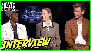 AVENGERS: ENDGAME | Brie Larson, Chris Hemsworth & Don Cheadle talk